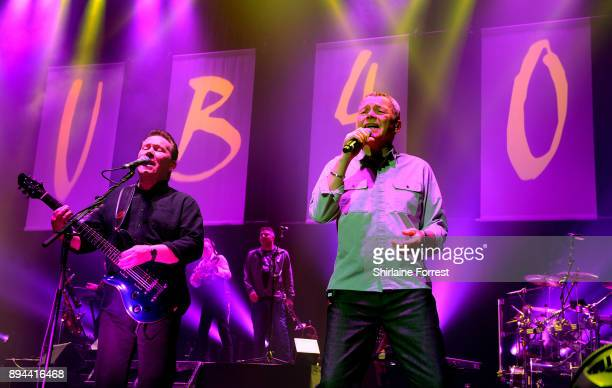 Duncan Campbell and Robin Campbell of UB40 perform live on stage at O2 Apollo Manchester on December 17 2017 in Manchester England