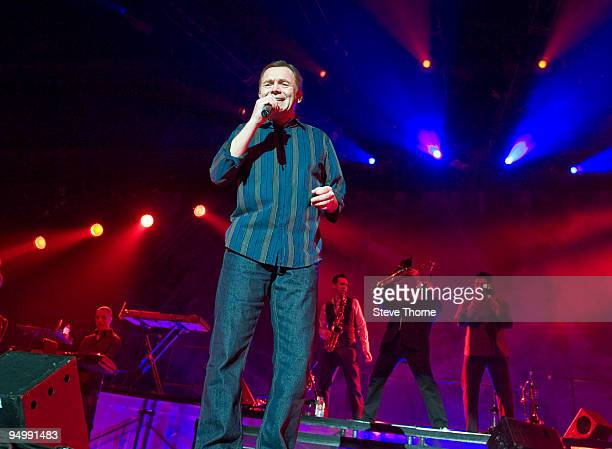 Duncan Campbell of UB40 performs on stage at LG Arena on December 21 2009 in Birmingham England