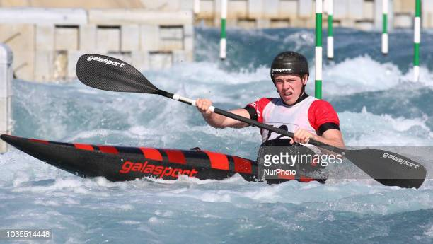 Duncan Edwards U23 Breadalbane CC Compete in K1 Men during Canoe Slalom UK Championships at Lee Valley White Water Centre , London, England on 15...