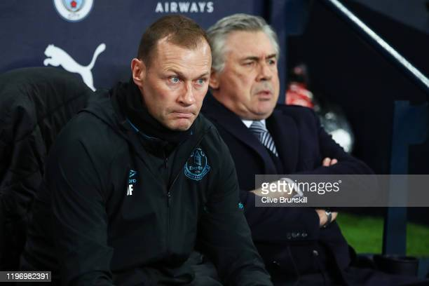 Duncan Ferguson looks on ahead of the Premier League match between Manchester City and Everton FC at Etihad Stadium on January 01 2020 in Manchester...