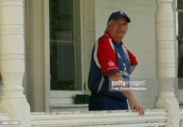 Duncan Fletcher, the England coach looks on after the 4th Ashes cricket Test match between England and Australia at Trent Bridge, Nottingham on the...