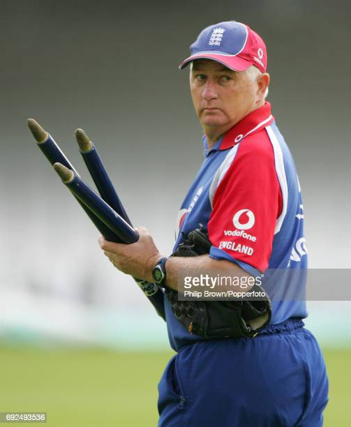 Duncan Fletcher, the England cricket coach, prior to the 2nd Natwest One Day International against Pakistan at Lord's Cricket Ground, circa September...