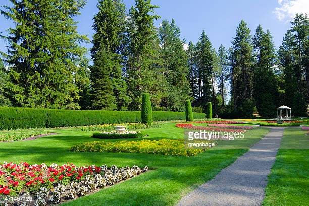 duncan garden at manito park in spokane, wa - spokane stock pictures, royalty-free photos & images
