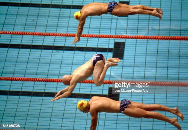 Duncan Goodhew of Great Britain enroute to winning the men's 800 metres breaststroke event during the Summer Olympic Games in Moscow on 22nd July 1980