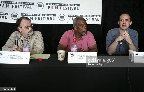 Duncan Hall Deputy Festival Director Stanley Nelson BIFF Juror and Macky Alston director of 'The Killer Within'