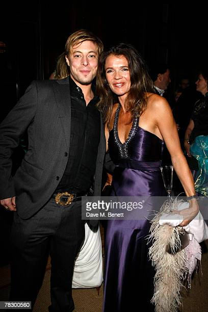 Duncan James and Annabel Croft attend the Winter Wonderland Christmas celebration on December 6 2007 at Hampton Court Palace in London England
