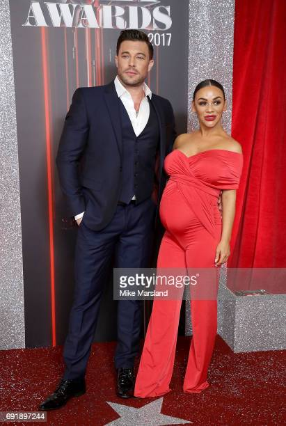 Duncan James and Chelsee Healey attend The British Soap Awards at The Lowry Theatre on June 3 2017 in Manchester England The Soap Awards will be...
