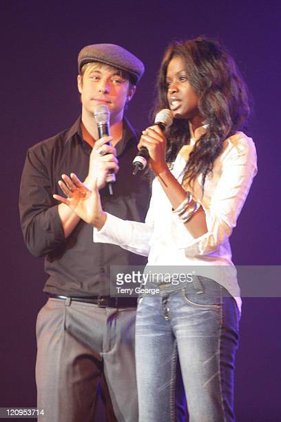 Duncan James and June Sarpong during Nokia Clothes Show Live 2006 December 3 2006 at NEC in Birmingham Great Britain