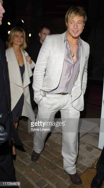 Duncan James and Maria Filippov during Elle Style Awards 2007 Departures at Roundhouse in London Great Britain