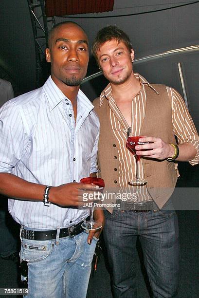 Duncan James and Simon Webbe formely of boyband Blue attend Rock The Polo The Cartier International Polo Day at Guards Polo Club on July 29 2007 in...