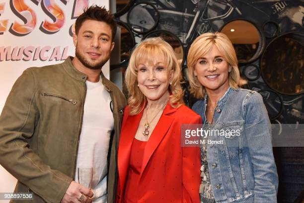 Duncan James Barbara Eden and Anthea Turner attend the press night after party for Ruthless The Musical at The Ham Yard Hotel on March 27 2018 in...