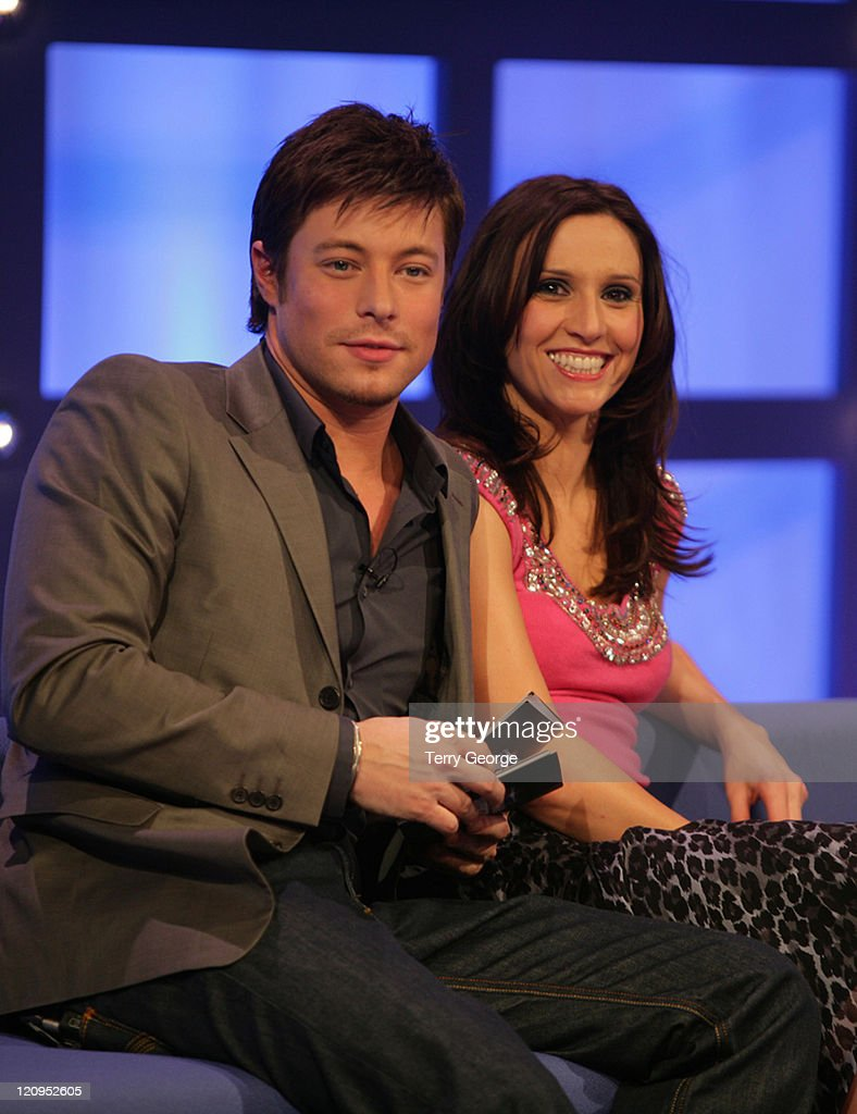 Duncan James, Jayne Middlemiss during Soapstar Superstar Extra at TV Studio in London, Great Britain.