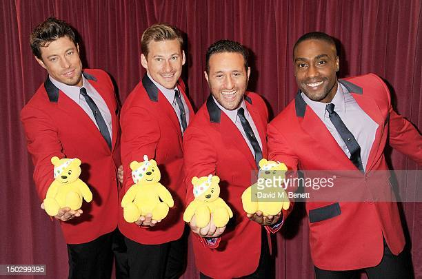 Duncan James Lee Ryan Antony Costa and Simon Webbe of Blue attend 'BBC Children in Need POP Goes The Musical' at the Prince Edward Theatre on August...