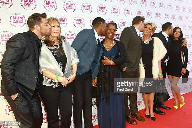 Duncan James mother Simon Webbe mother Antony Costa mother Lee Ryan and mother attend the Tesco Mum of the Year awards at The Savoy Hotel on March 1...
