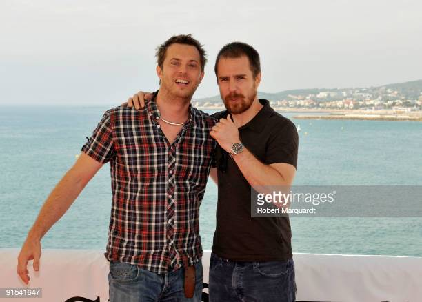 Duncan Jones and Sam Rockwell attend a photocall for the film 'Moon' at the 42nd Sitges Film Festival on October 7 2009 in Barcelona Spain
