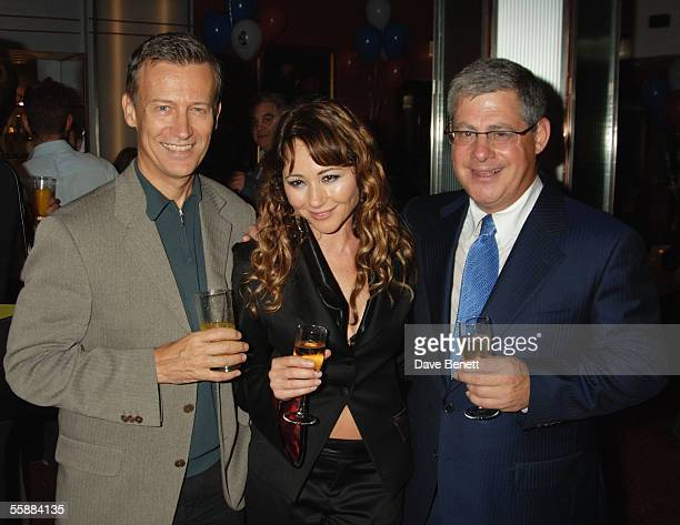 Duncan Kenworthy Frances Ruffelle and Cameron Mackintosh attend the 20th Anniversary Celebration of Les Miserables after party at the Prince of Wales...