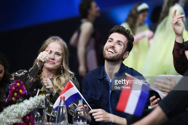 Duncan Laurence of The Netherlands and guests during the 64th annual Eurovision Song Contest held at Tel Aviv Fairgrounds on May 18 2019 in Tel Aviv...