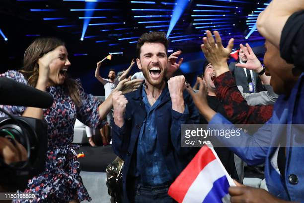 Duncan Laurence of The Netherlands during the 64th annual Eurovision Song Contest held at Tel Aviv Fairgrounds on May 18 2019 in Tel Aviv Israel
