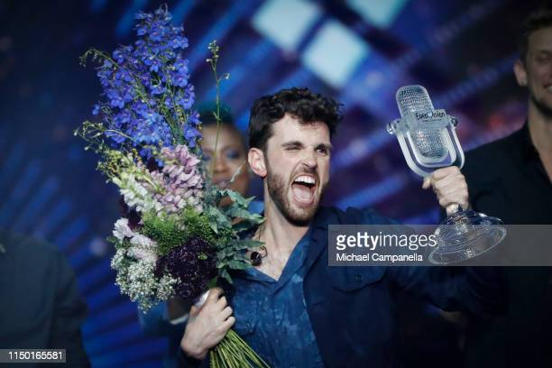 Duncan Laurence representing The Netherlands wins the Grand Final of the 64th annual Eurovision Song Contest held at Tel Aviv Fairgrounds on May 18...