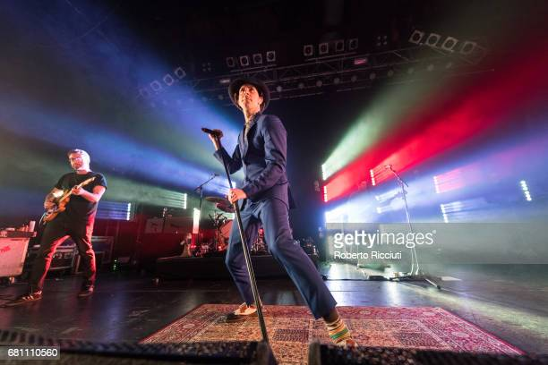 Duncan Lloyd and Paul Smith of Maximo Park perform on stage at O2 ABC Glasgow on May 9 2017 in Glasgow Scotland