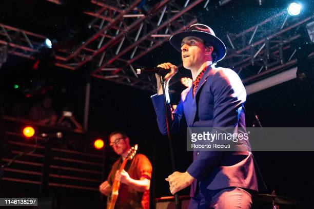 Duncan Lloyd and Paul Smith of Maximo Park perform onstage at The Liquid Room on May 24, 2019 in Edinburgh, Scotland.