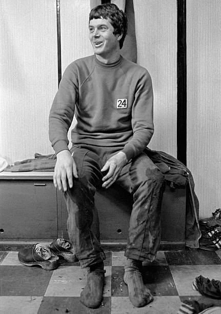Duncan McKenzie of Blackburn Rovers sitting in the changing room at Ewood Park in Blackburn, 7th February 1980.