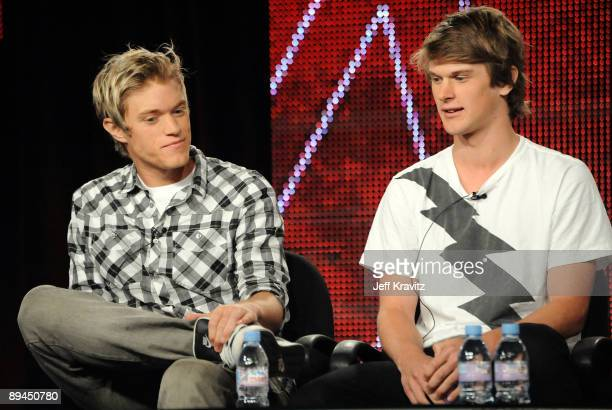 """Duncan Penn and Jonnie Penn of """"The Buried Life"""" speak during the MTV Networks portion of the 2009 Summer Television Critics Association Press Tour..."""