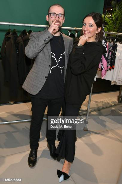 Duncan Rendall and Jemima Sara attends the launch of Femme by Daisy Lowe x Jemima Sara at Wolf Badger on November 21 2019 in London England