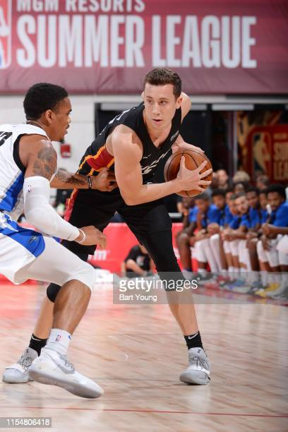 Duncan Robinson of the Miami Heat handles the ball against the Orlando Magic on July 9 2019 at the Cox Pavilion in Las Vegas Nevada NOTE TO USER User...