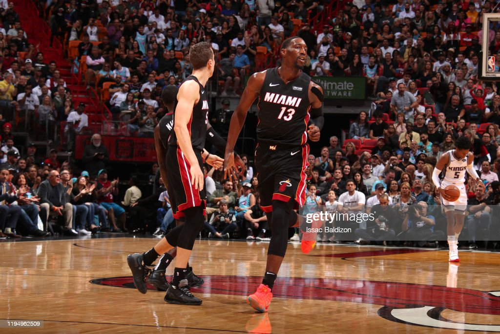 Duncan Robinson Of The Miami Heat High Fives Bam Adebayo Of The Miami News Photo Getty Images