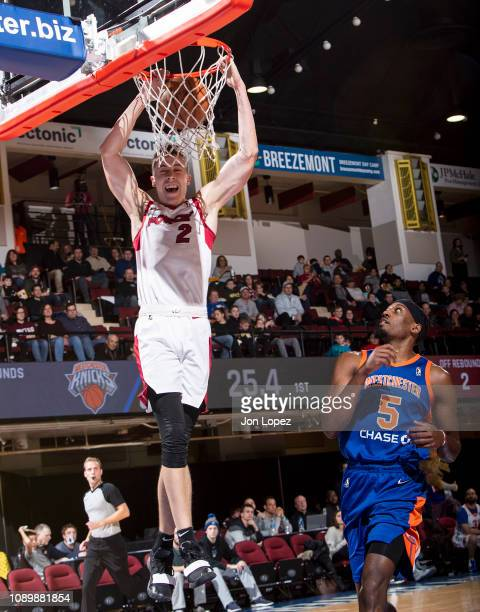 Duncan Robinson of the Sioux Falls Skystorm dunks the ball against the Westchester Knicks during an NBA GLeague game on January 26 2019 at...