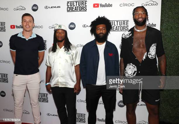 Duncan Robinson, Todd Gurley III, Amondo Redmond and Andre Drummond attend the Culture Creators Innovators & Leaders Awards at The Beverly Hilton on...
