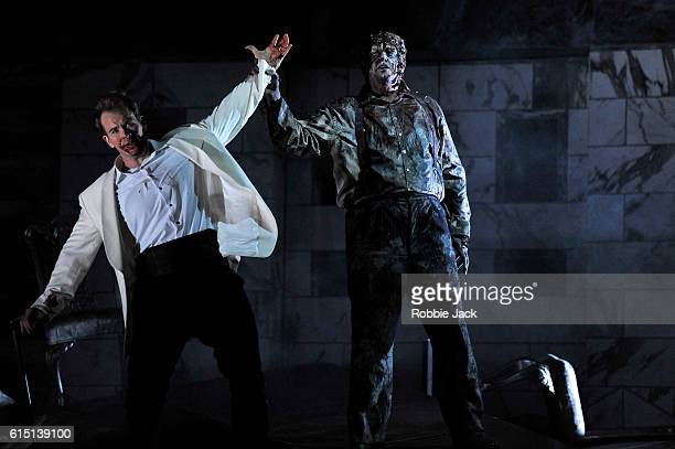 Duncan Rock as Don Giovanni and Andrii Goniukov as Il Commendatore in Wolfgang Amadeus Mozart's Don Giovanni directed by Jonathan Kent and conducted...