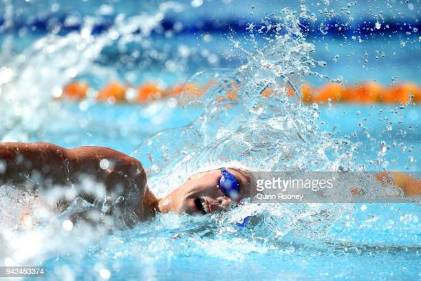 Duncan Scott of Scotland competes during the Men's 200m Freestyle Heat 4 on day two of the Gold Coast 2018 Commonwealth Games at Optus Aquatic Centre...