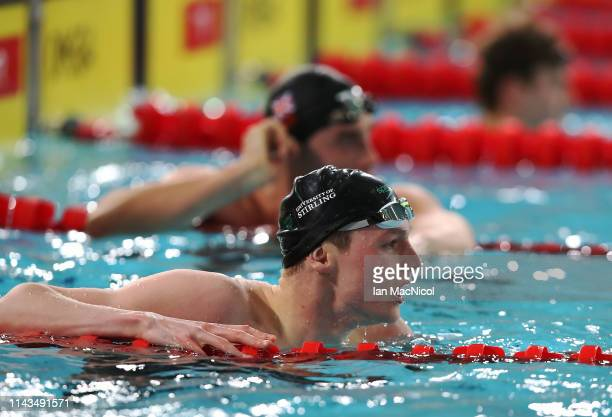 Duncan Scott of University of Stirling competes in the heats of the Men's 100m Freestyle during day three of the British Swimming Championships at...