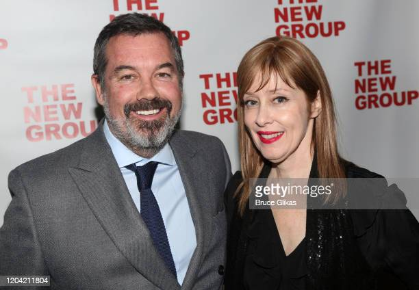 Duncan Sheik and Suzanne Vega pose at the opening night party for the new musical Bob Carol Ted Alice at Green Fig Urban Eatery at Yotel on February...