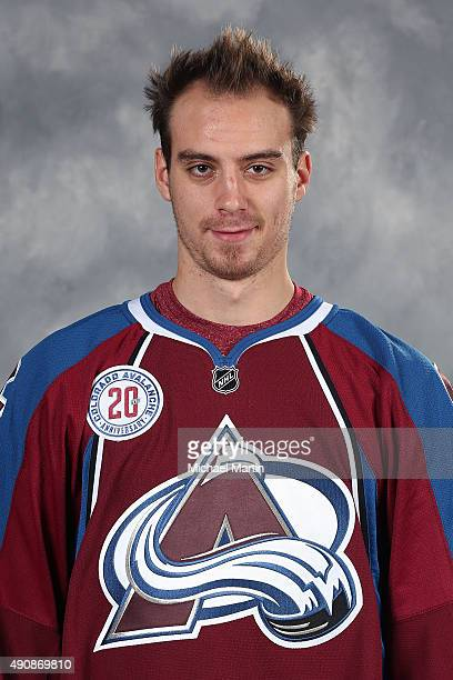 Duncan Siemens of the Colorado Avalanche poses for his official headshot for the 20152016 NHL season on September 17 2015 at the Pepsi Center in...