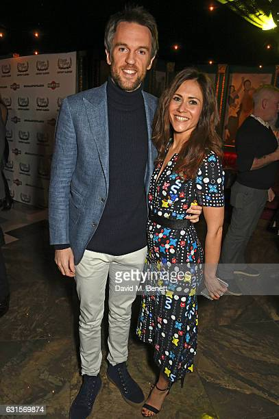 Duncan Sterling and Zoe Sterling attend the launch of Bunga Bunga in Covent Garden on January 12 2017 in London England