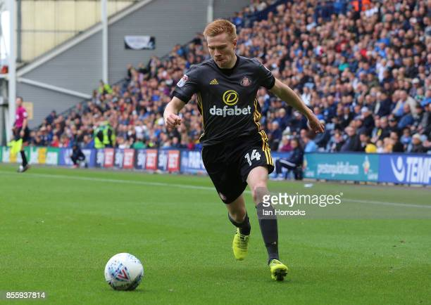 Duncan Watmore of Sunderland during the Sky Bet Championship match between Preston North End and Sunderland at Deepdale on September 30 2017 in...