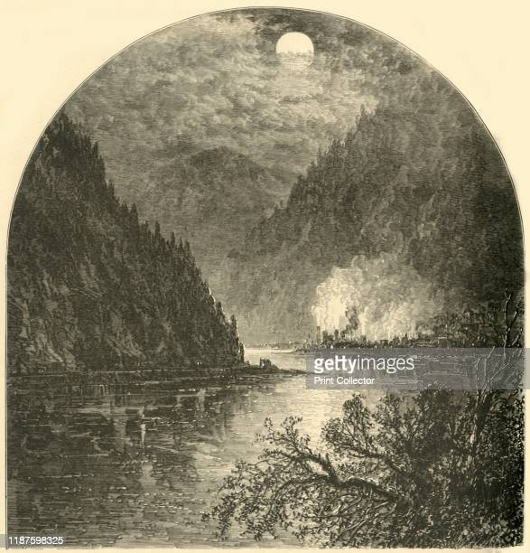 Duncannon Mouth of the Juniata' 1874 The village of Duncannon on the Juniata River Pennsylvania USA 'Duncannon is built at the base of numerous...
