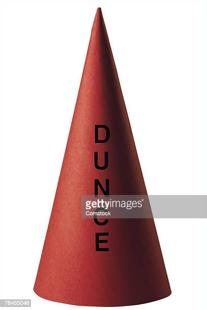 dunce cap - dunce's hat stock pictures, royalty-free photos & images