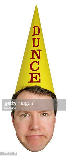 dunce head - dunce's hat stock pictures, royalty-free photos & images