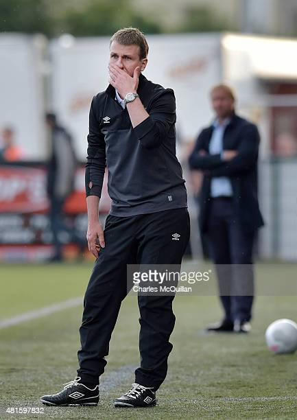 Dundalk FC manager Stephen Kenny during the Champions League 2nd round qualifying game between Dundalk FC and BATE Borisov at Oriel Park on July 22...