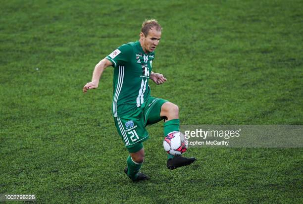 Dundalk Ireland 19 July 2018 Nikita Andreev of Levadia during the UEFA Europa League 1st Qualifying Round Second Leg match between Dundalk and...