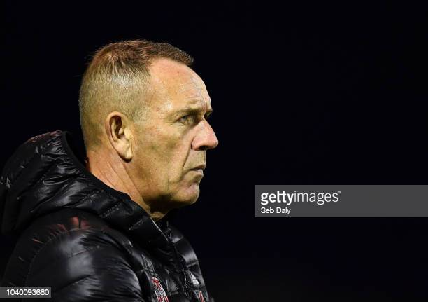 Dundalk Ireland 25 September 2018 Derry City manager Kenny Shiels during the SSE Airtricity League Premier Division match between Dundalk and Derry...