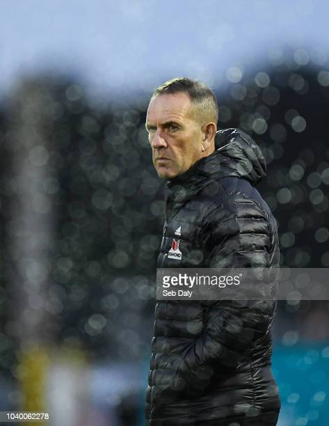 Dundalk Ireland 25 September 2018 Derry City manager Kenny Shiels prior to the SSE Airtricity League Premier Division match between Dundalk and Derry...