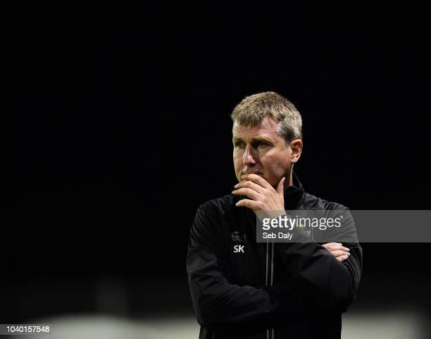 Dundalk Ireland 25 September 2018 Dundalk manager Stephen Kenny during the SSE Airtricity League Premier Division match between Dundalk and Derry...