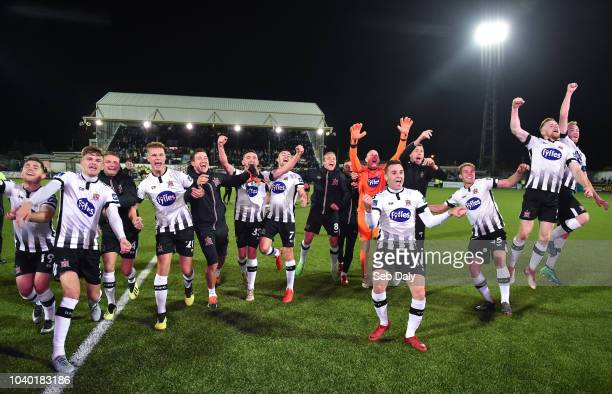 Dundalk Ireland 25 September 2018 Dundalk players celebrate following their side's victory during the SSE Airtricity League Premier Division match...