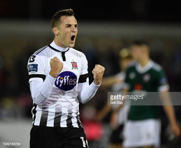 Dundalk Ireland 25 September 2018 Dylan Connolly of Dundalk celebrates following his side's victory during the SSE Airtricity League Premier Division...