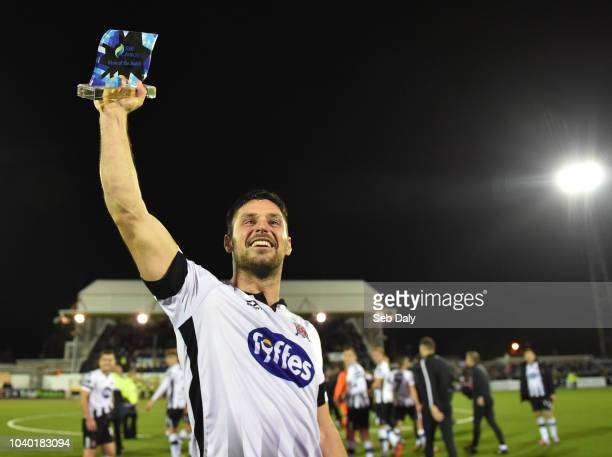 Dundalk Ireland 25 September 2018 Patrick Hoban of Dundalk celebrates following his side's victory during the SSE Airtricity League Premier Division...